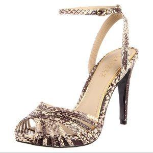 ❤️ Lauren Ralph Lauren Snakeskin Heels Size 7